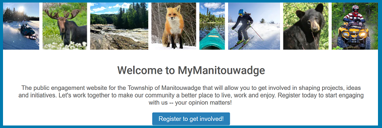 Link to myManitouwadge public engagement website