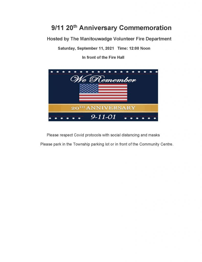 9/11 Commemoration poster with american flag